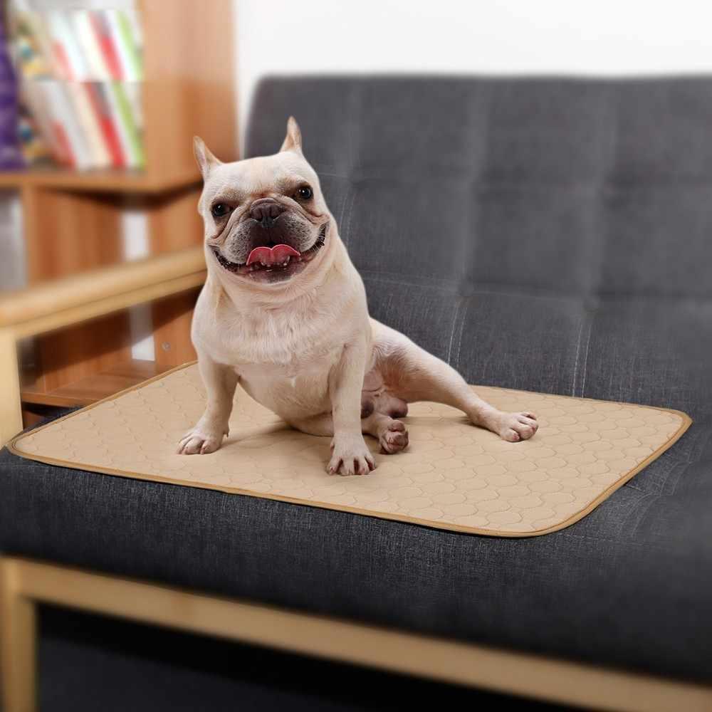 Lavável cão animal de estimação fralda tapete absorvente urina ambiente proteger fralda tapete à prova dwaterproof água reutilizável treinamento almofada cão assento do carro capa