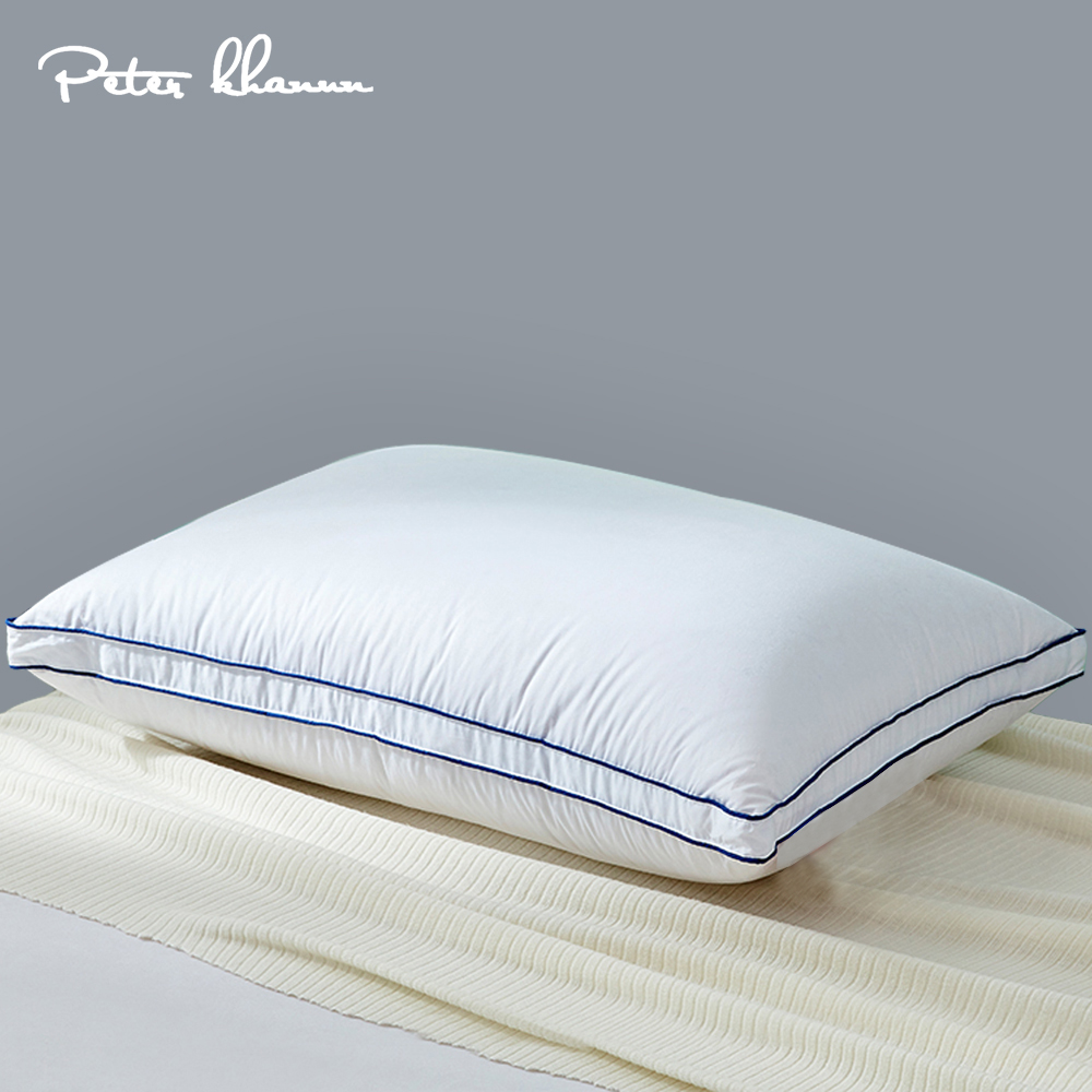 peter khanun goose down pillow neck pillows for sleeping bed pillows 100 cotton shell with 3 layer filling soft and fluffy p03