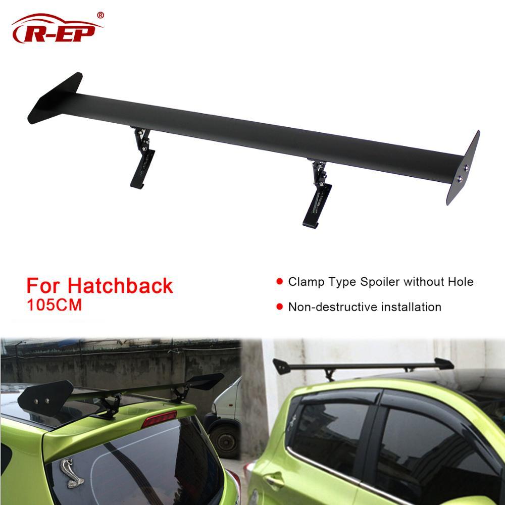 Ninth-City Universal Hatch Aluminum Adjustable Trunk GT Style Rear Trunk Car Spoiler Wing