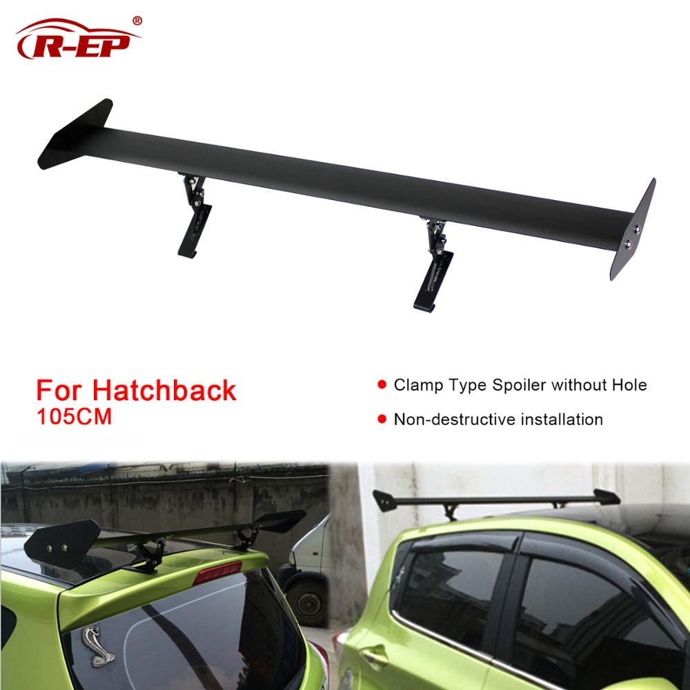 R-EP Car Spoiler Universal Rear Wing for Hatchback Auto GT Rear Trunk Wing Aluminum Racing Sport Spoilers for Honda Fit Golf