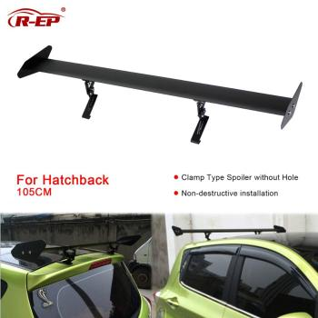 цена на R-EP Car Spoiler Universal Rear Wing for Hatchback Auto GT Rear Trunk Wing Aluminum Racing Sport Spoilers for Honda Fit Golf