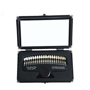Image 5 - 3d тени для отбеливания зубов, компаратор с зеркалом, стоматология, холодный свет, отбеливающая стоматологическая пластина, 20 видов цветов