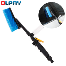 Rinse water into the car Retractable Car Wash Brush Auto Exterior Handle Water Flow Switch Foam Bottle Car Cleaning Brush Tools