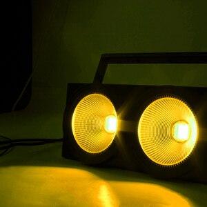 Image 5 - 2 目 200 クール、ウォームホワイト cob DMX512 ライト舞台照明 led バー ktv のための結婚式の dj ディスコ効果光 shehds
