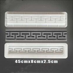 Цемент античный кирпич квадратная форма садовая дорожка для изготовления кирпича 3D резьба противоскользящие бетонные пластиковые формы д...