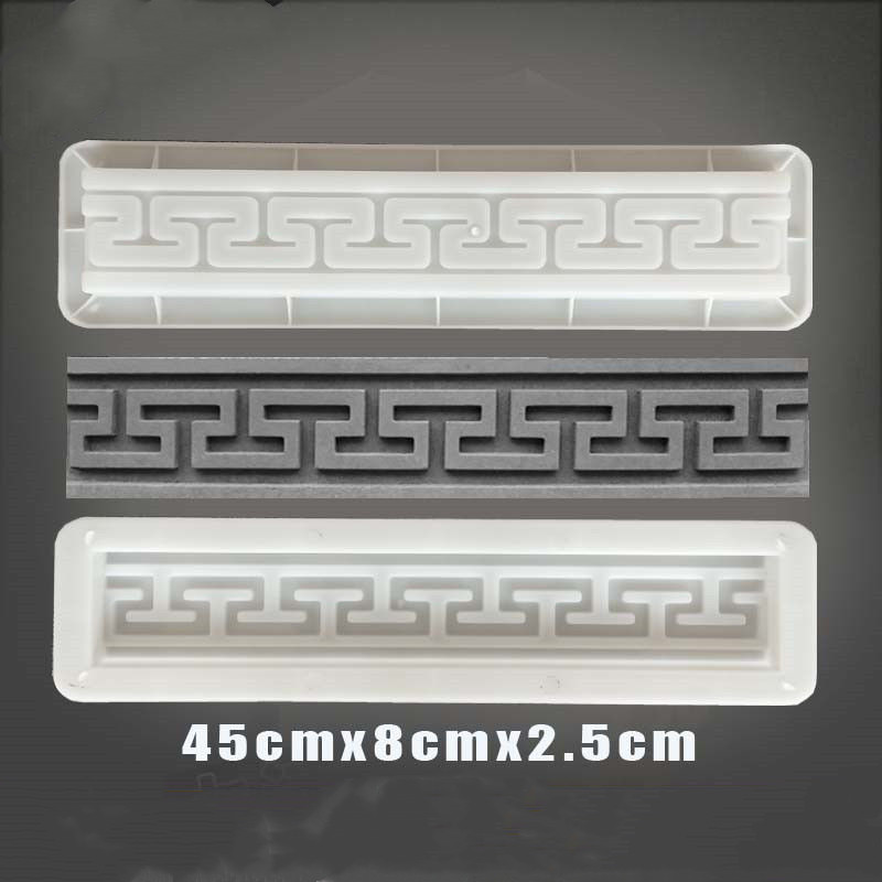 Cement Antique Brick Square Mould Garden Path Making Brick Mold 3D Carving Anti-Slip Concrete Plastic Paving Molds 45x8x2.5cm