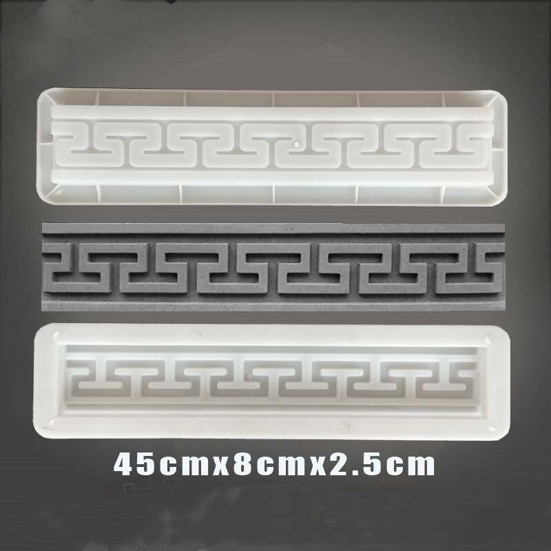 Cement Antique Brick Square Mould Garden Path Making Brick Mold 3D Carving Anti-Slip Concrete Plastic Paving Molds 45x8x2.5cm