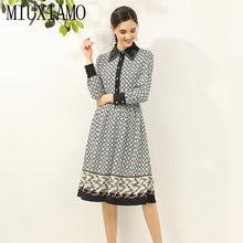 Miuximao весна лето 2020 платье новейшее высокое качество цветочный