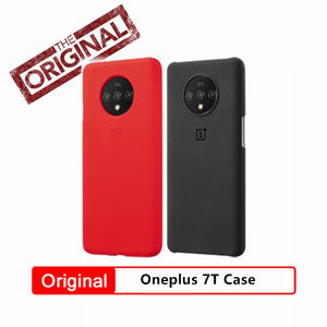 Original Oneplus Official case for oneplus 7T oneplus 7 7 pro sandstone silicone aramid carbon fiber official back cover