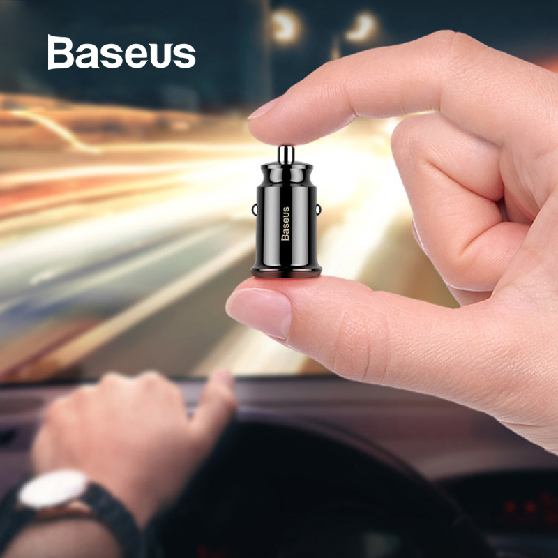 Baseus Mini <font><b>USB</b></font> <font><b>Car</b></font> <font><b>Charger</b></font> For Mobile Phone Tablet GPS 3.1A Fast <font><b>Charger</b></font> <font><b>Car</b></font>-<font><b>Charger</b></font> Dual <font><b>USB</b></font> <font><b>Car</b></font> Phone <font><b>Charger</b></font> Adapter in <font><b>Car</b></font> image