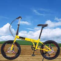 Bicicleta de carretera para hombre y mujer, 20 pulgadas, velocidad Variable, frenos de disco dobles, llanta de aleación de aluminio