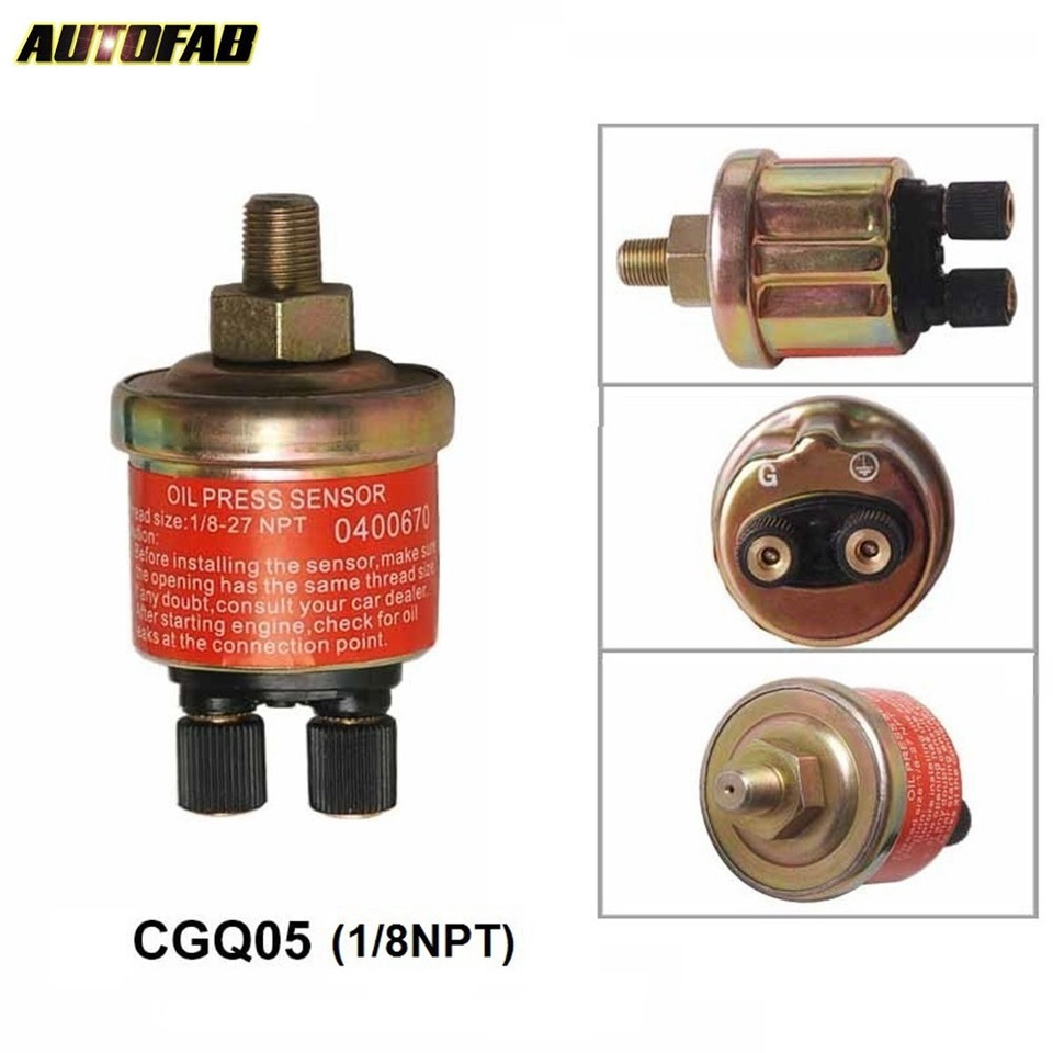 Universal Replacement Oil//Water Temperature Auto Gauge Sensor Sending Unit 1//8-27 NPT