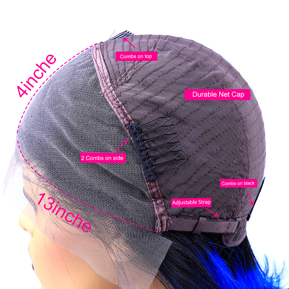 150-Colorful-Lace-Front-Bob-Wigs-Human-Hair-13X4-Pre-Plucked-Blonde-Pink-Blue-Grey-Ombre (5)