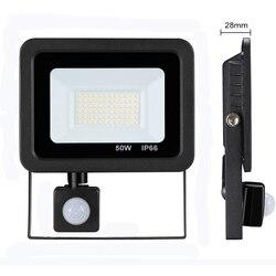 Светодиодный прожектор с датчиком движения, 10/20/30/50 Вт, 220 В, IP66
