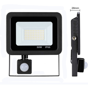 Image 1 - Led 10W 20W 30W 50W Flood Light Outdoor PIR Motion Sensor 220V IP66 Outdoor Spotlight Led Projector Light Reflector With Sensor