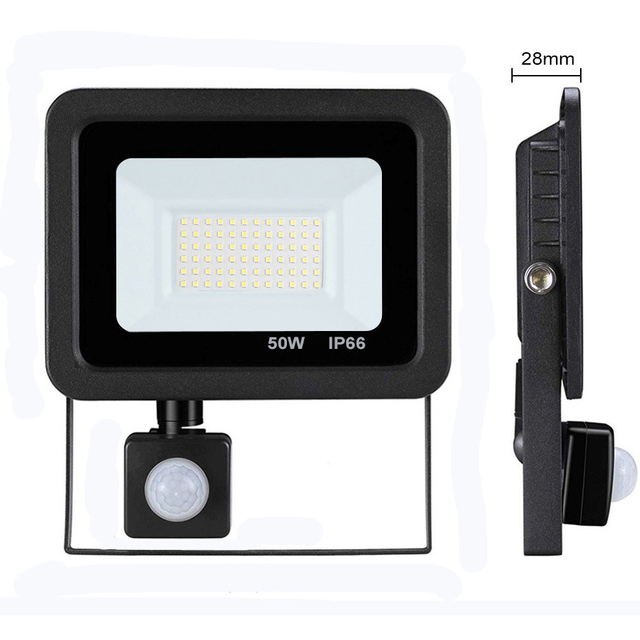 Led 10W 20W 30W 50W Flood Light Outdoor PIR Motion Sensor 220V IP66 Outdoor Spotlight Led Projector Light Reflector With Sensor