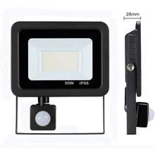 Led 10W 20W 30W 50W Schijnwerper Outdoor Pir Motion Sensor 220V IP66 Outdoor Spotlight led Projector Licht Reflector Met Sensor