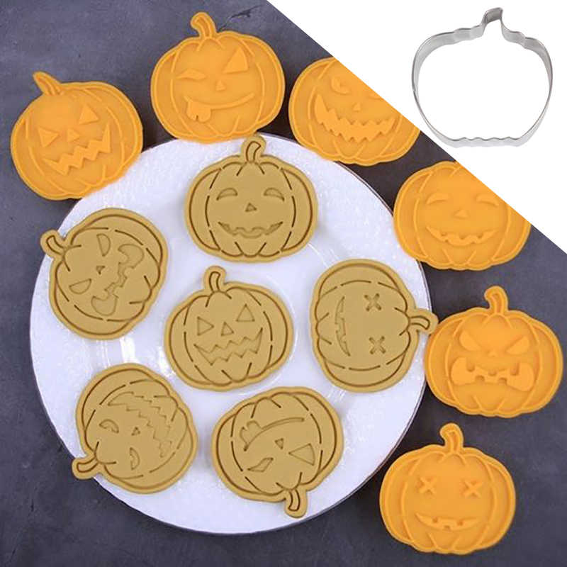 Kürbis cookies cutter form für Halloween dekoration fledermaus gespenst skelett kürbis cookie cutter keks form Halloween backen werkzeug