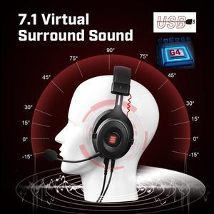 Image 5 - EKSA E900 Pro 2 In 1 USB 7.1/ 3.5mm profesyonel oyun mikrofonlu kulaklık ses kontrolü/LED ışık kulaklık PC Gamer