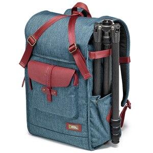 Image 2 - ナショナルジオグラフィック ng AU5350 革カメラバッグバックパック大容量のノートパソコン用キャリーバッグデジタルビデオカメラ旅行バッグ