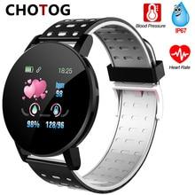 כושר צמיד לחץ דם מדידה חכם להקה עמיד למים כושר גשש שעון נשים גברים קצב לב צג Smartband