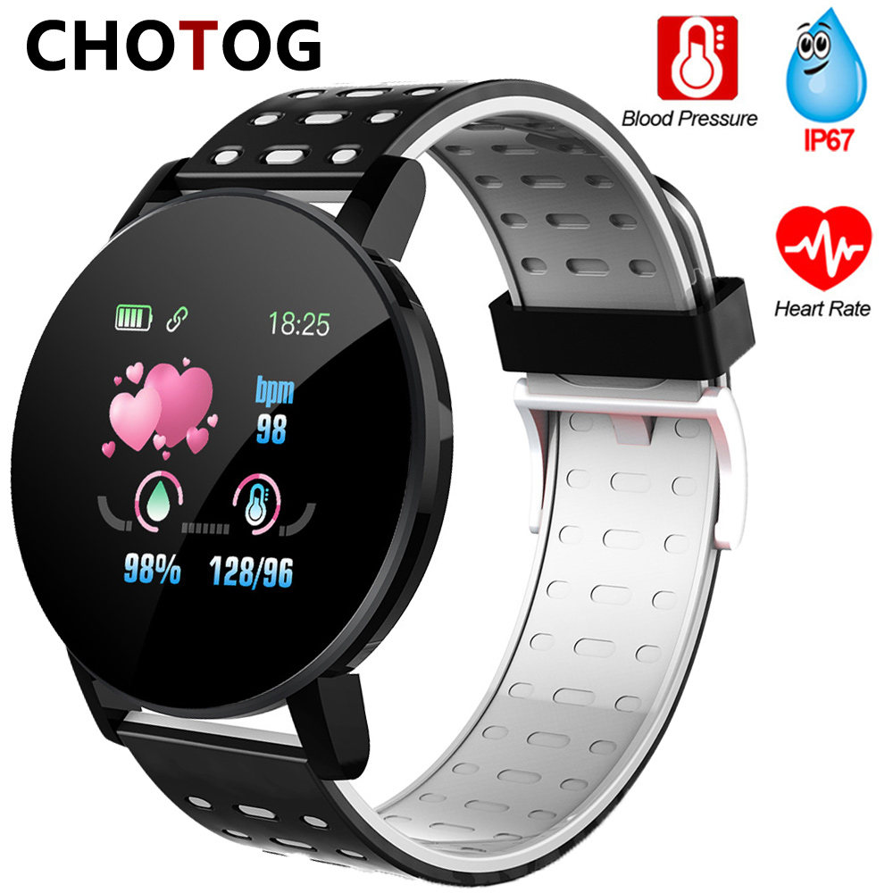 Fitness Bracelet Blood Pressure Measurement Smart Band Waterproof Fitness Tracker Watch Women Men Heart Rate Monitor SmartbandSmart Wristbands   -