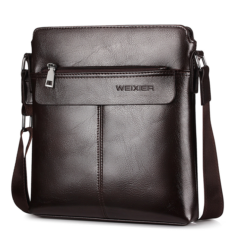 New Men PU Leather Briefcase Casual Messenger Shoulder Bag Crossbody Handbag S