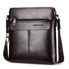 الرجعية الرجال Satchels حقائب كروسبودي الأعمال حقيبة صغيرة حقيبة كتف رجل فاخر العلامة التجارية حقيبة ساعي عادية الذكور بولي Leather الجلود