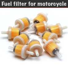 10 PCs Fuel filter for motorcycle, ATV, scooter, moped, transparent gasoline filter, universal filter (set)