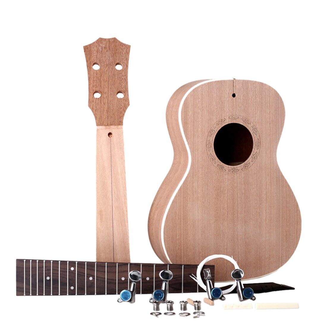23 pouces bricolage acajou classique ukulélé Instruments de musique éducatifs Instrument de musique jouet pour enfants enfants cadeau de noël