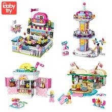 LOZ Mini Blocks Amusement Park Brick Building Blocks Toys for Kids Assembly DIY Children Street City View Educational 3d Model цена 2017
