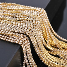 1M Rhinestone Trimming Claw Close Chain Jewelry Crafts DIY Phone Case Glass Clothes & Accessories Shoes Making Decoration