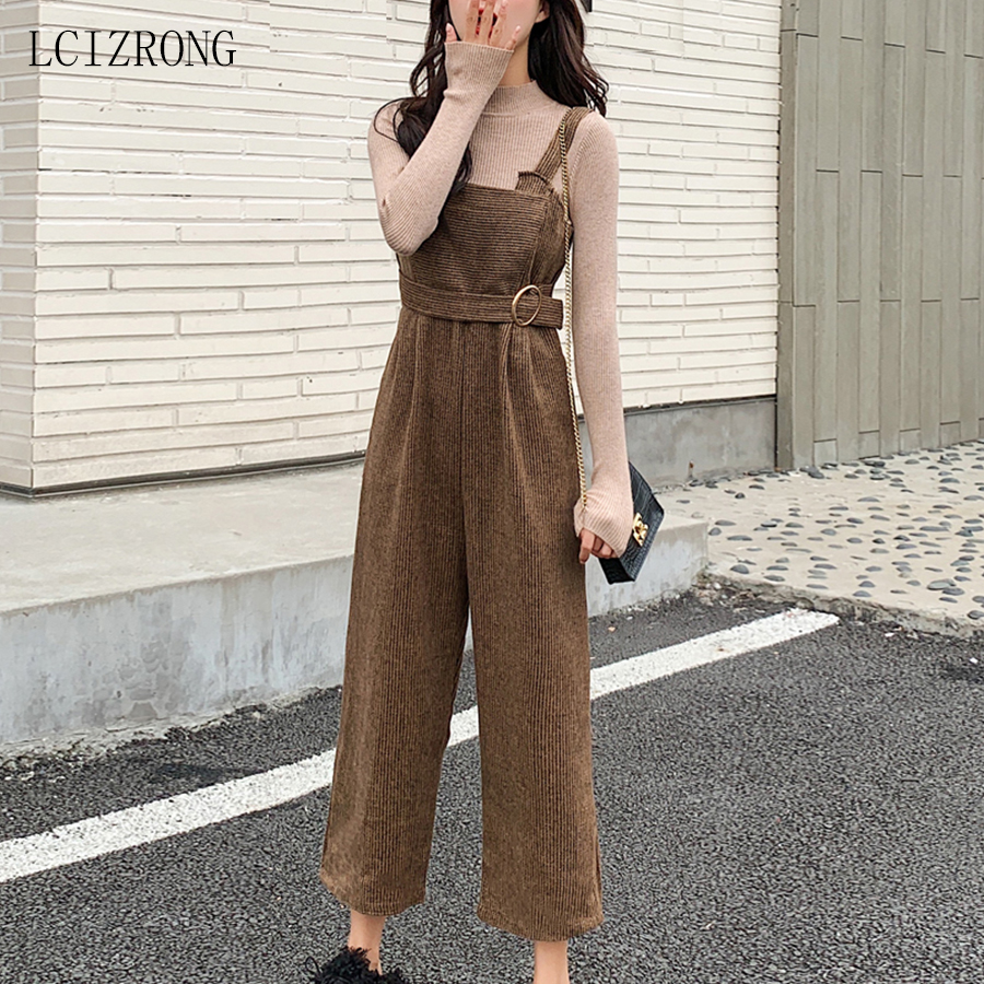 2020 Spring New Style Women Casual Loose Jumpsuit Sleeveless Backless Playsuit Trousers Fashion Ladies Wide Leg Pants