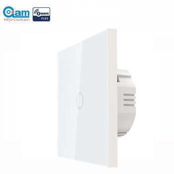 NEO COOLCAM Z-wave زائد 1CH الاتحاد الأوروبي الجدار مفتاح الإضاءة أتمتة المنزل ZWave اللاسلكية الذكية التحكم عن بعد مفتاح الإضاءة