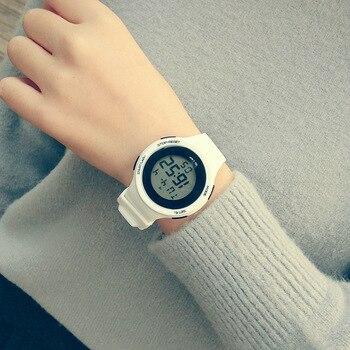 Niña niño niños relojes chico reloj de las mujeres de los hombres reloj de silicona luz LED Digital del reloj del deporte erkek saat reloj de pulsera