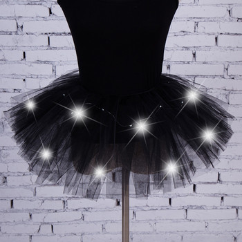 Women's Girl LED Light Up Tulle Tutu Dancing Skirt 2019 New Fashion 8 colors Party Night Skirts Halloween Costumes Skirts z0905 4