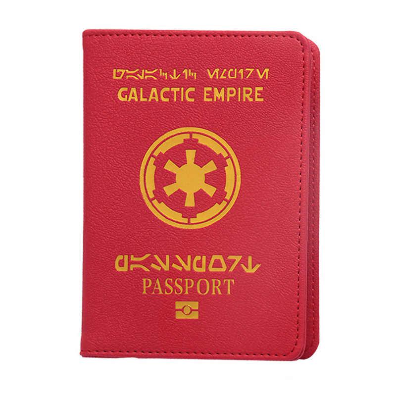 En Star Wars galaktik İmparatorluğu pasaport kapağı seyahat pasaport tutucu için Fit ab pasaport kapağı İlk pasaport için kapak