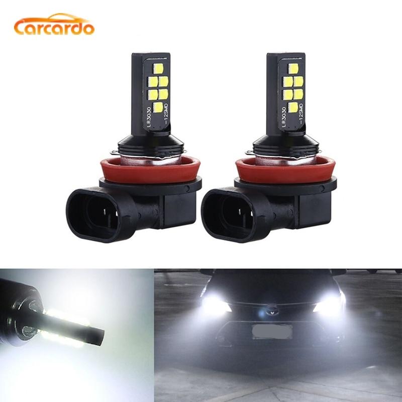 Carcardo 2PCS H1 H3 H7 H8 H11 9005 HB3 9006 HB4 LED Auto Nebel Lampe Birne 6000K Weiß auto LED Nebel Licht Fahren Lampe Auto Zubehör