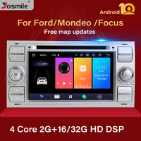 2 din Android 10 Car Radio For Ford Focus 2 3 mk2 Mondeo 4 Kuga Fiesta Transit Connect S C MAX Multimedia GPS Navi head unit DAB