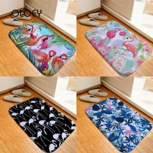 40 * 60cm Black and White Flamingo Velvet Floor Mat Bathroom Non-slip Carpet Kitchen Living Room Floor Mat Home Decoration Mat .(China)