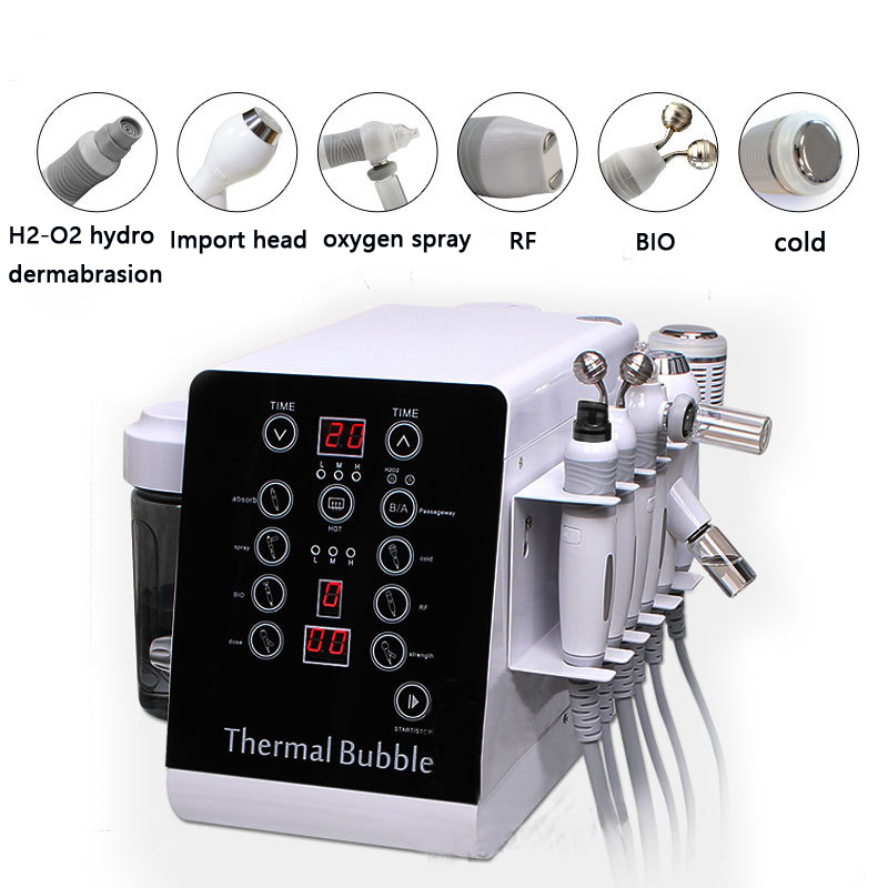 Multifunction Thermal Bubble H2-O2 Hydro Dermabrasion Cold Hammer Facial Care Machine For SPA