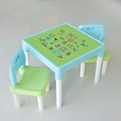 للأطفال طاولة كرسي طاولة كرسي كرسي دمية بلاستيكية لعبة الكتابة طاولة كرسيين رسالة الكرتون