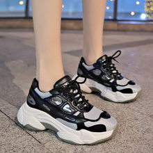 Fashion White dames Sneakers High Platform For Girls Chunky Women Baskets Femme Brand Black