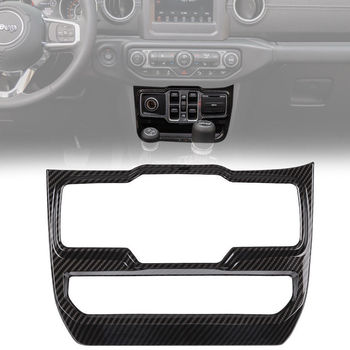CarbonFiber Power Window Lift Control Panel Cover Frame Trim For Jeep Wrangler JL