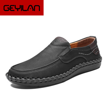 Handmade Genuine Leather Mens Shoes Casual Luxury Brand Men Loafers Fashion Breathable Driving Shoes Slip on Moccasins ghn89