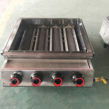 High Quality 4 Burners LPG Gas BBQ Grills Stainless Steel Grills Griddle Machine Barbecue Grill for Outdoor Camping CookingGrill цена
