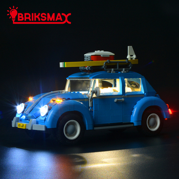 BriksMax Led Light Up Kit For Creator Volkswagen Beetle Building Blocks Lighting Set Compatible With Toys Model 10252 image