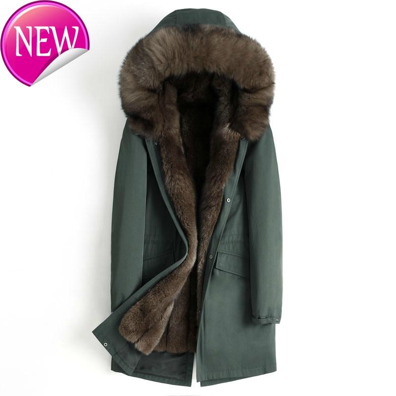 Fur Parka Real Men Winter Jacket Whole Skin Natural Fox Fur Liner Long Coat Thick Parkas Manteau Homme Hiver 4555 KJ2302 1