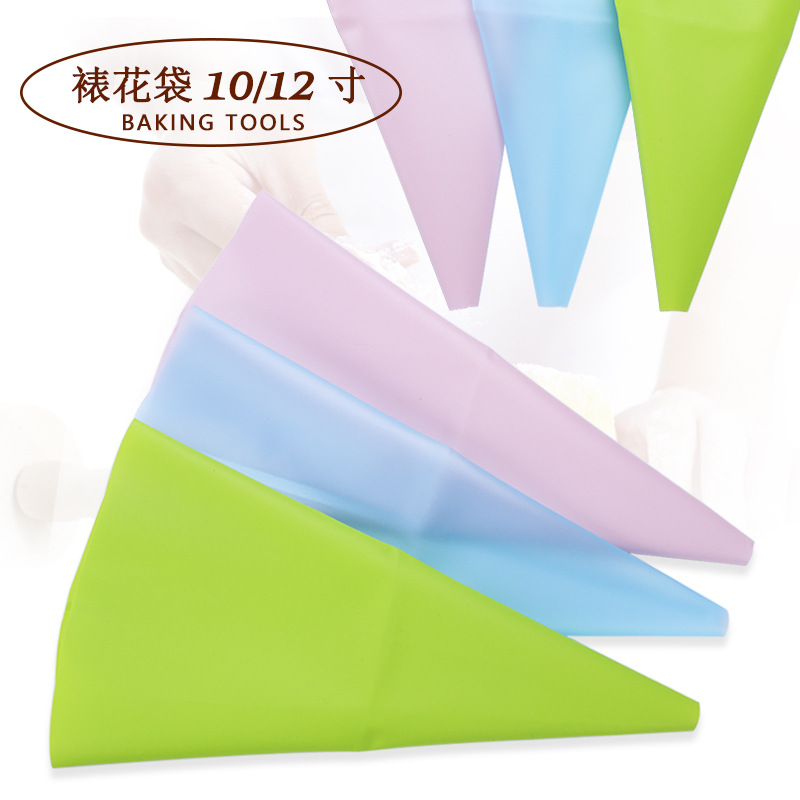 Baking Tool Eva10-Inch 12-Inch Decorating Pouch DIY Cake Cookie Cream Bags Silica Gel Pastry Bag