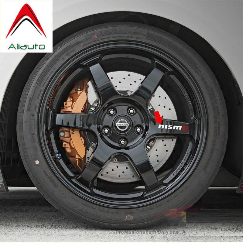 Aliauto 4 × nismo車のタイヤ & リムステッカーデカールアクセサリーpvc日産ティーダsunnyキャシュカイmarchteana x-trai 10 センチメートル * 2 センチメートル